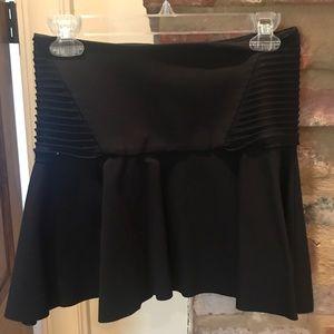 Parker black mini skirt with flare bottom
